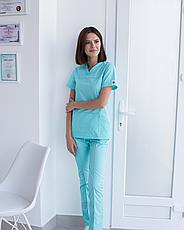 Медицинский женский костюм Топаз мятный, фото 3