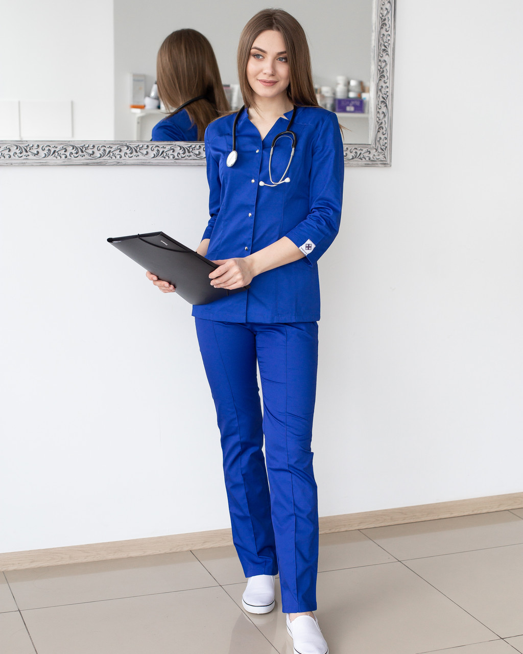 Медицинский женский костюм Лотос электрик