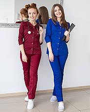 Медицинский женский костюм Лотос марсала, фото 2