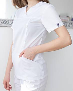 Медицинский женский костюм Топаз белый, фото 2