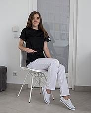 Медицинский женский костюм Жасмин черный-белый, фото 2