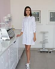 Медицинский халат Сакура белый, фото 3