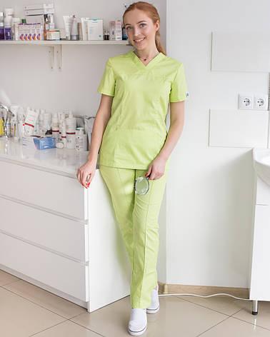 Медичний жіночий костюм Топаз лайм, фото 2