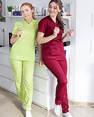 Медичний жіночий костюм Топаз лайм, фото 3