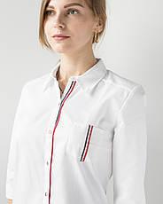 Медицинский женский халат Манхэттэн строчка цветная, фото 3
