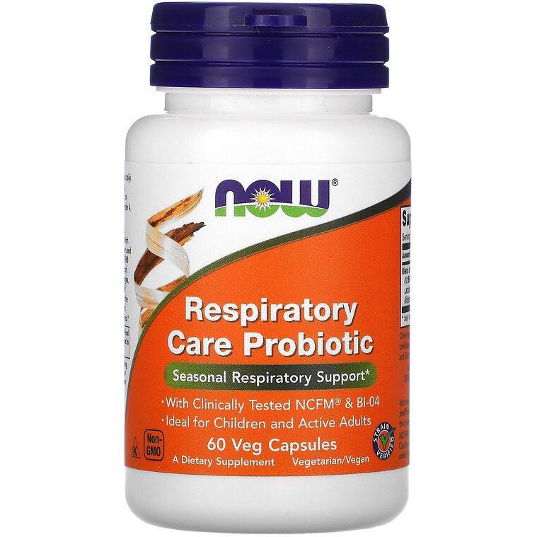 """Пробіотики для зміцнення органів дихання NOW Foods """"Respiratory Care Probiotic"""" (60 капсул)"""