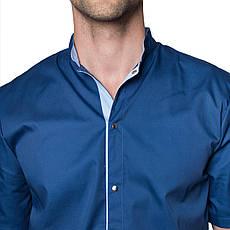 Медицинский костюм мужской Лондон синий-голубой, фото 2
