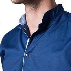 Медицинский костюм мужской Лондон синий-голубой, фото 3