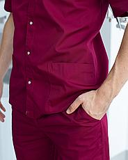Медицинский костюм мужской Лондон марсала-шампань, фото 3