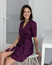 Медицинский женский халат Токио фиолетовый, 40