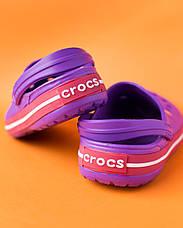 """Кроксы фиолетовые """"Crocsband"""", фото 2"""