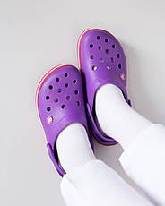 """Кроксы фиолетовые """"Crocsband"""", фото 3"""