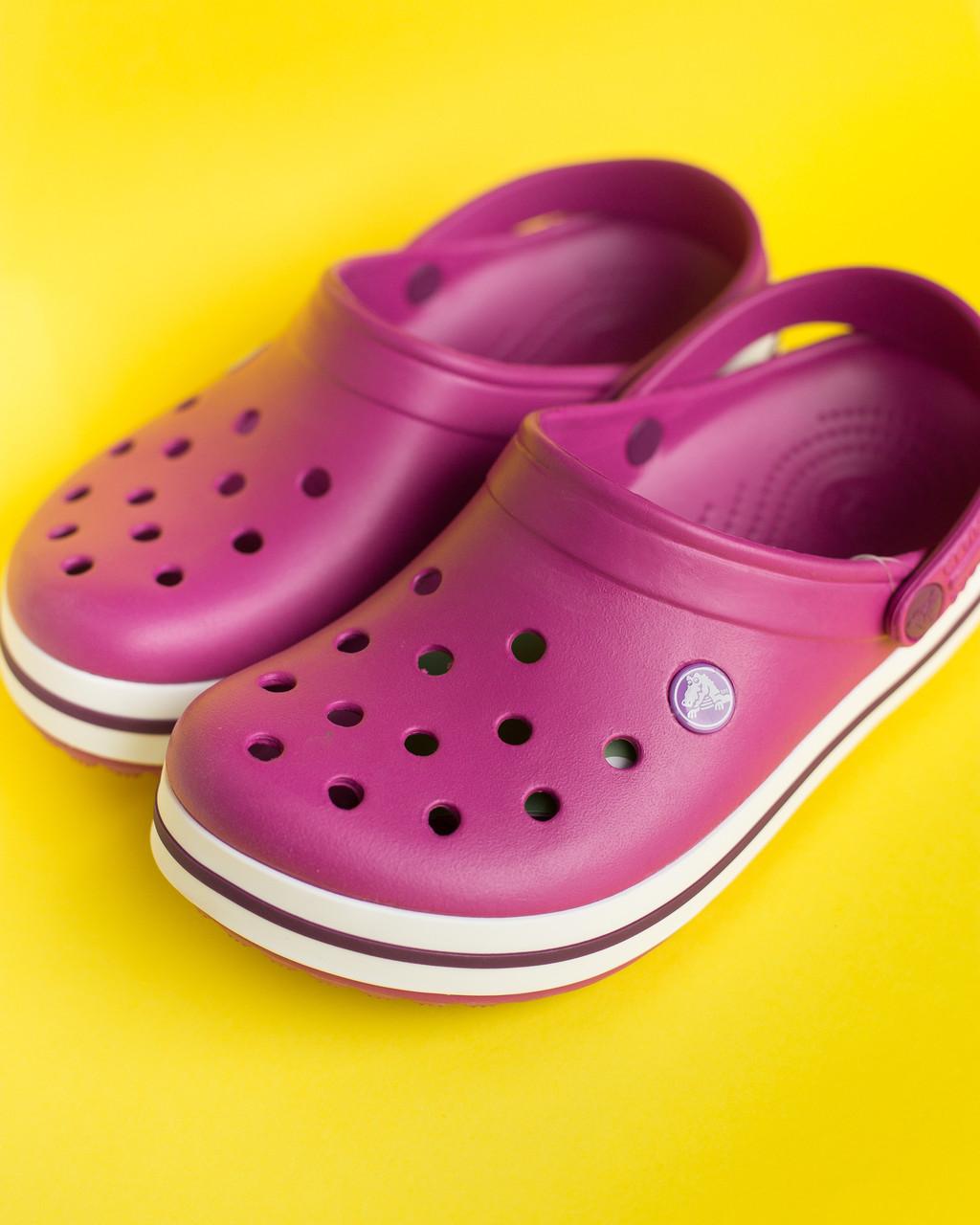 """Кроксы малиновые """"Crocsband"""""""