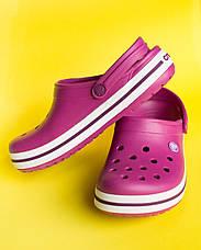 """Крокси малинові """"Crocsband"""", фото 2"""