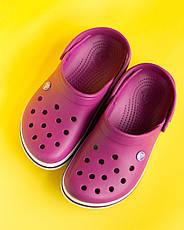 """Кроксы малиновые """"Crocsband"""", фото 3"""