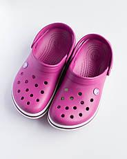 """Кроксы малиновые """"Crocsband"""", фото 2"""