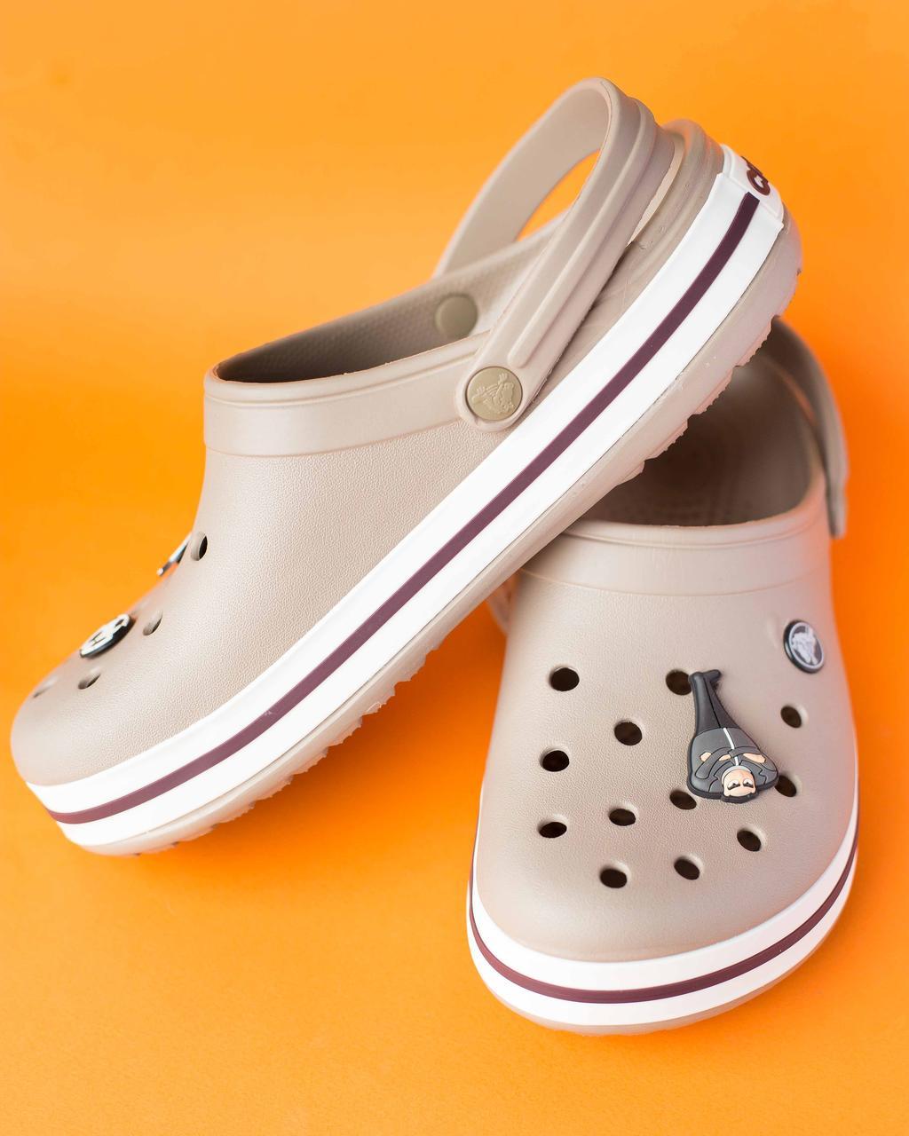 """Кроксы светло-коричневые """"Crocsband"""""""