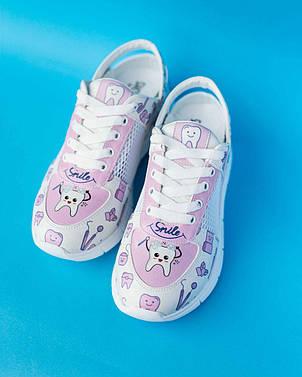 """Медичні кросівки з відкритою п'ятою """"Pink teeth"""", фото 2"""
