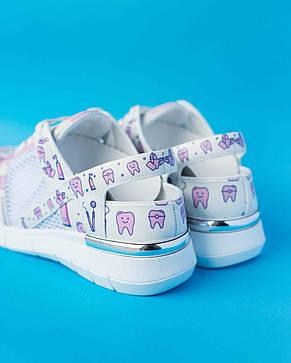 """Медицинские кроссовки с открытой пяткой """"Pink teeth"""", фото 2"""