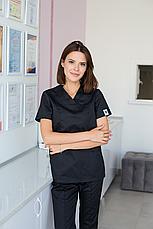Медицинский женский костюм Топаз черный, фото 3