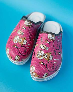Медицинская обувь сабо мишки, фото 2
