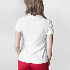 Медицинское поло женское белое, фото 2