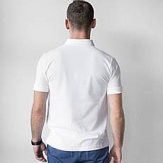 Мужское медицинское поло белое, фото 3