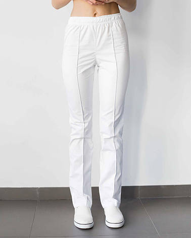 Медицинские женские брюки белые, фото 2