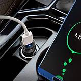 Автомобільний зарядний пристрій Hoco Z32 Speed Up QC3.0 (1USB) Black, фото 3