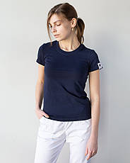 Медицинская женская футболка, синяя, фото 3