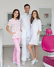 Медицинский женский костюм Топаз принт единороги розовые 40, фото 2