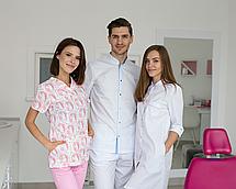 Медицинский женский костюм Топаз принт единороги розовые 40, фото 3