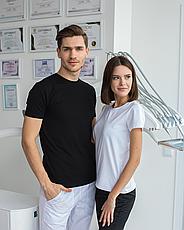 Женская медицинская футболка, белая, фото 3