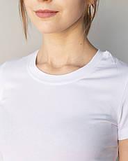 Женская медицинская футболка, белая, фото 2