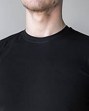 Мужская медицинская футболка, черная, фото 2