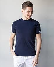 Мужская медицинская футболка, синяя, фото 2