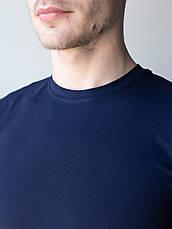 Мужская медицинская футболка, синяя, фото 3