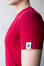 Мужская медицинская футболка, бордо, фото 2