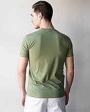 Мужская медицинская футболка, оливка, фото 2