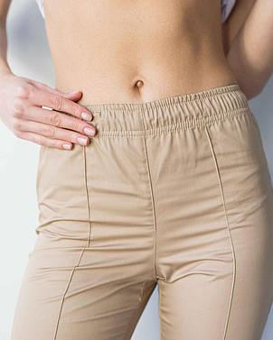 Медицинские женские брюки песок, фото 2