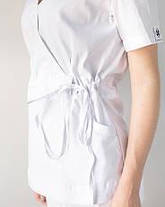 Медицинский костюм Рио белый, из тонкой ткани, фото 2