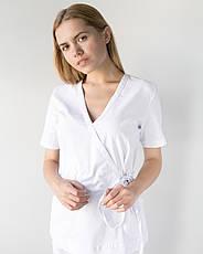 Медицинский костюм Рио белый, из тонкой ткани, фото 3