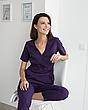 Медицинский костюм Рио фиолетовый, из тонкой ткани, фото 6