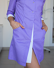 Медицинский халат Оливия лаванда-белый, размер 40, фото 2