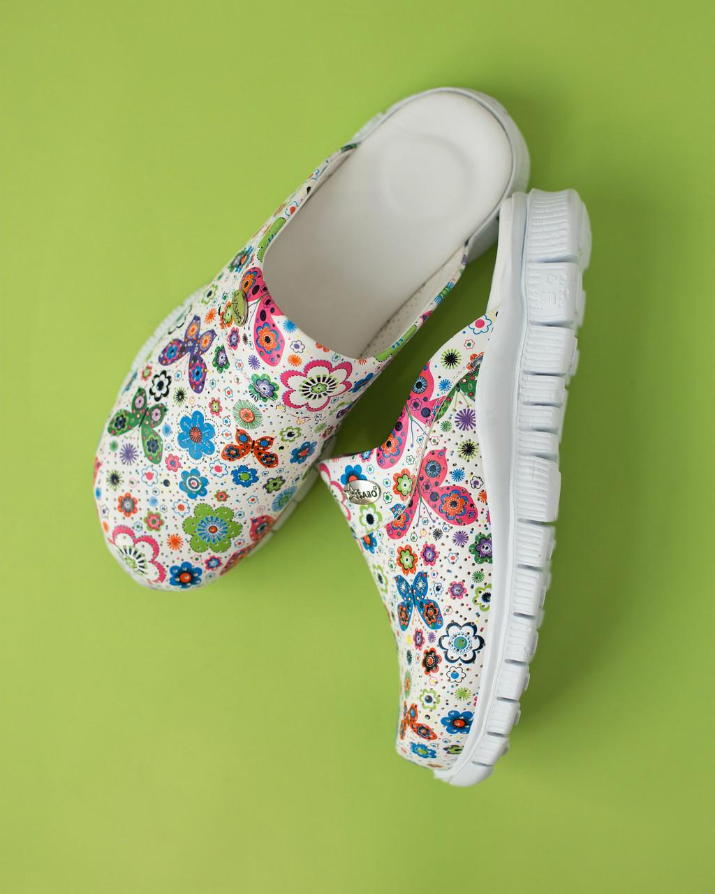 """Медична взуття сабо """"Метелики"""" з підошвою Lite"""