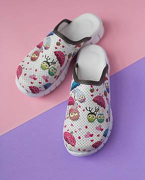 """Медицинская обувь сабо """"Совы белые"""" с подошвой Lite, фото 2"""