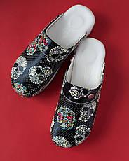 """Медицинская обувь сабо """"Череп"""" с подошвой AIR MAX, фото 3"""