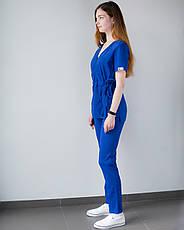 Медицинский костюм Рио электрик, из тонкой ткани, фото 3