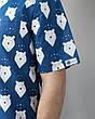 Медицинский мужской костюм Гранит принт мишки синие-песок, фото 4