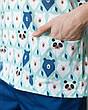 Медицинский мужской костюм Гранит принт мишки мята-синий, фото 4